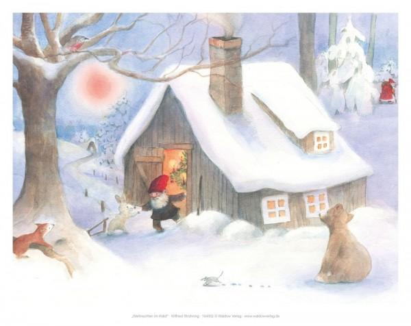 Tischbild Weihnacht im Wald