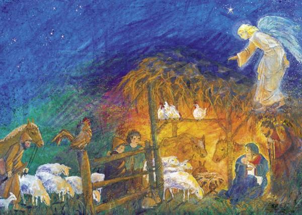 Weihnacht Postkarte