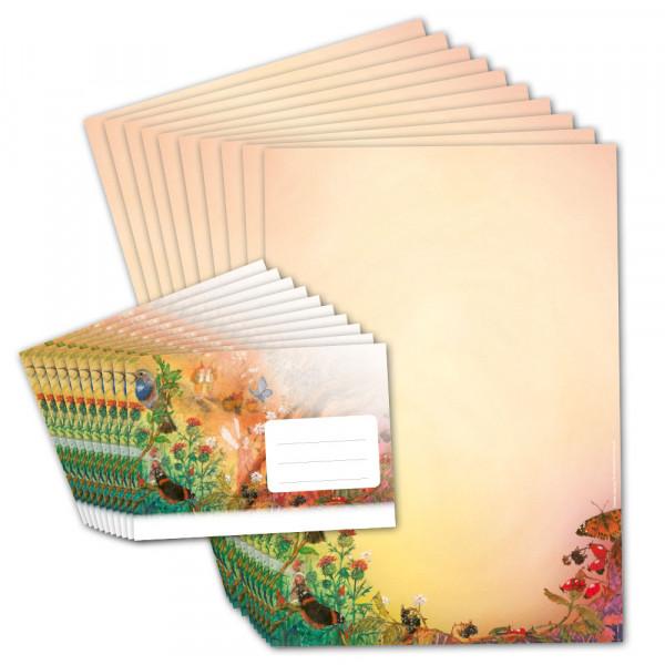 """Briefpapier """"Vogel und Schmetterling"""""""