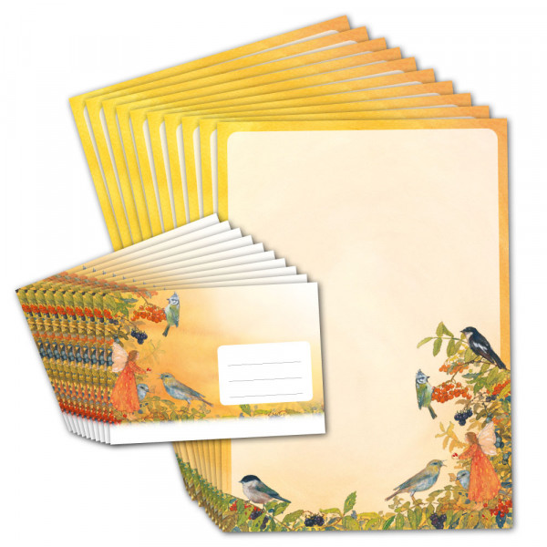 """Briefpapier """"Elfe und Vögel"""""""
