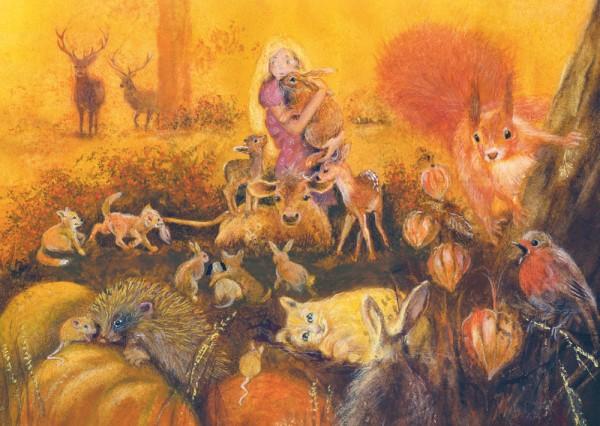Tierkinder Postkarte
