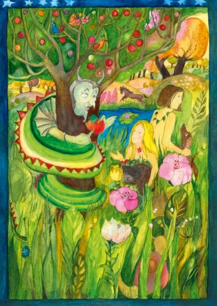 Im Paradies Postkarte