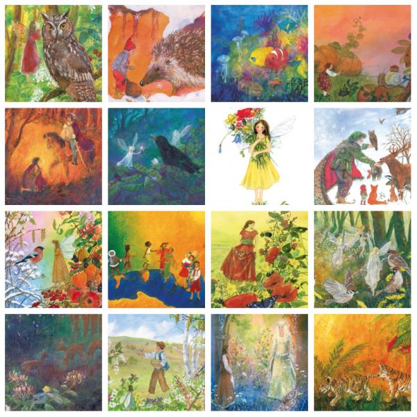 Postkartenserie DANIELA DRESCHER (16 Motive)