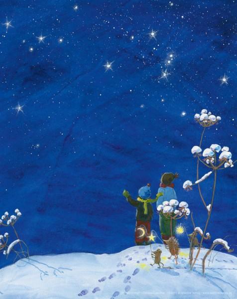 Tischbild Winterhimmel