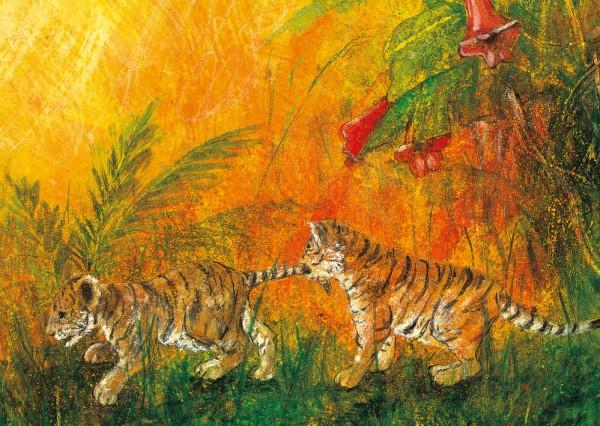 Junge Tiger Postkarte
