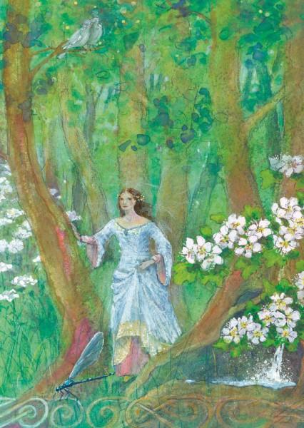 Keltische Fee Postkarte