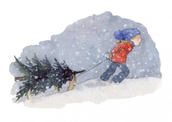 Schnee Postkarte