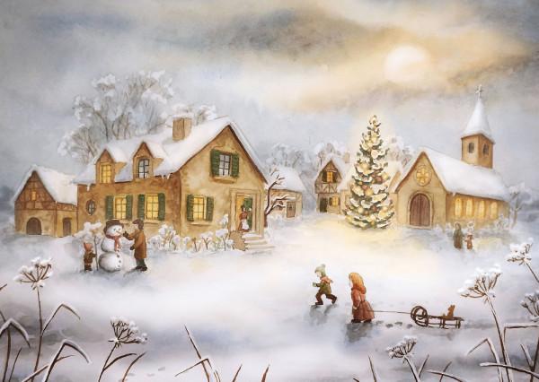 Am Weihnachtstag Postkarte