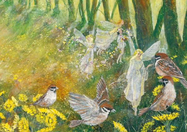 Frühlingsfreuden Postkarte