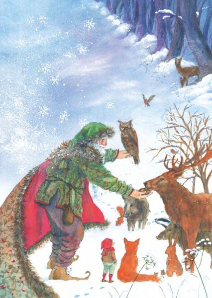 Der Winter Postkarte