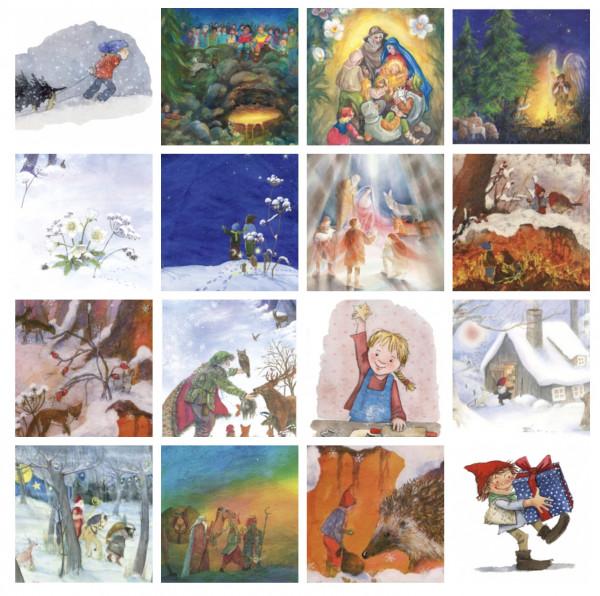 Postkartenserie WEIHNACHT (16 Motive)