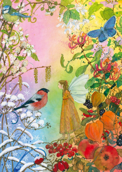 Vier Jahreszeiten Postkarte