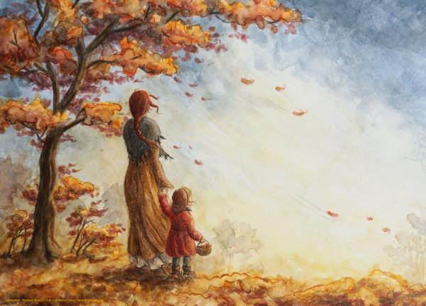 Kunstdruck Herbstwind