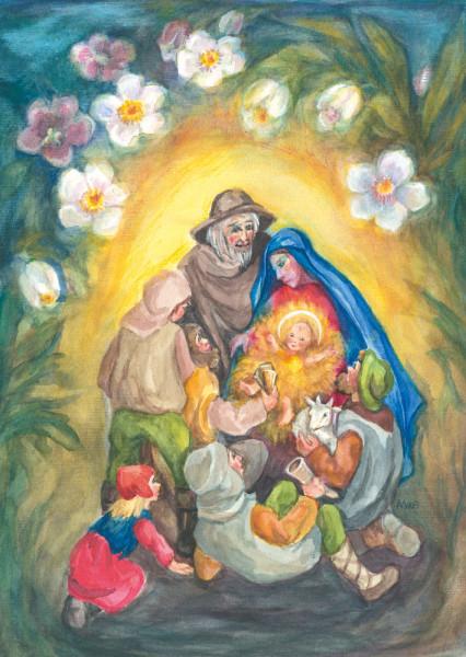 Weihnachtsrosen Postkarte