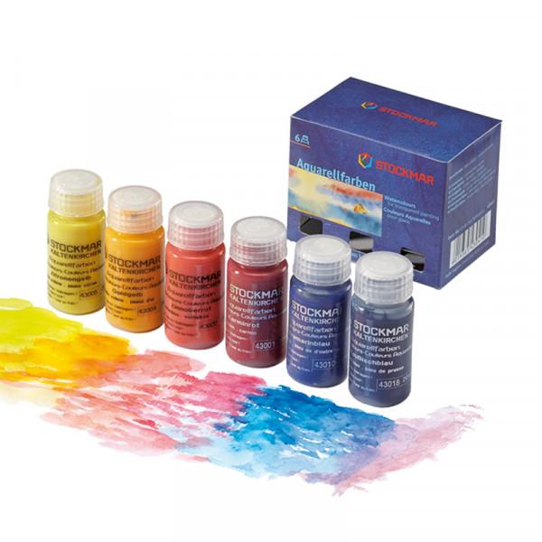 Stockmar Aquarellfarben Grundsortiment 6 Farben á 20ml