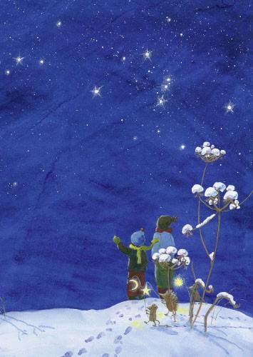 Winterhimmel Postkarte