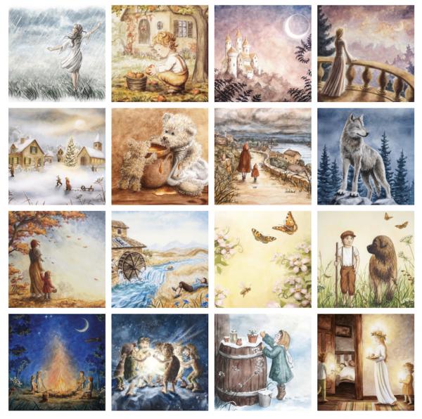 Postkartenserie RAPHAELA BERENDT (16 Motive)
