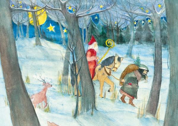 Der Nikolaus Postkarte