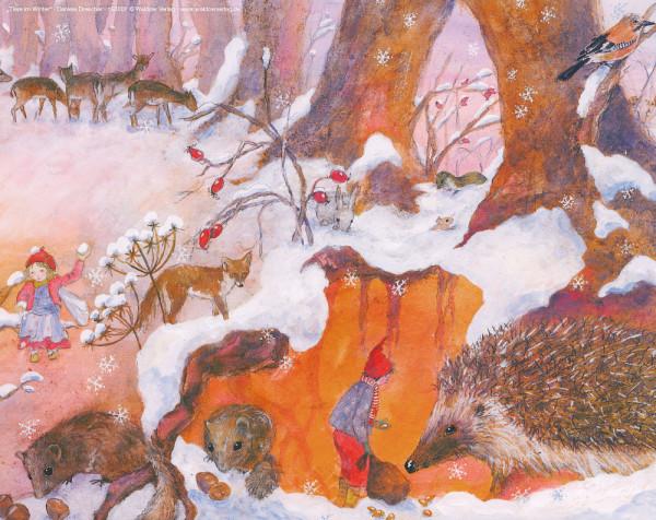 Tischbild Tiere im Winter