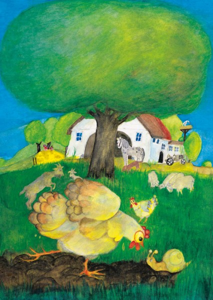 Postkarte Bauernhof