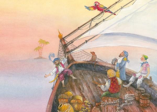Piraten Postkarte