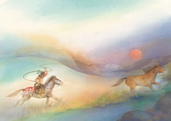 Postkarte Wildpferd