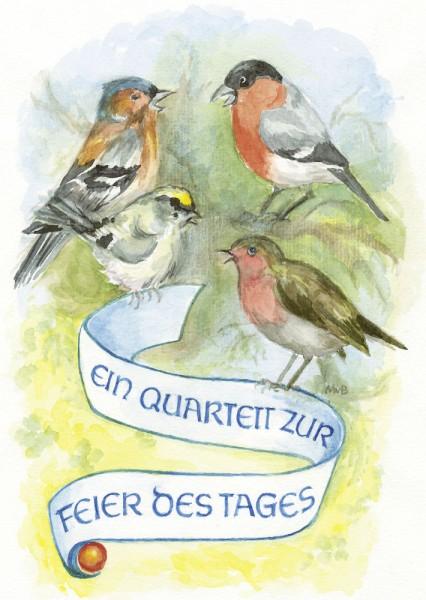 Postkarte Vogelquartett