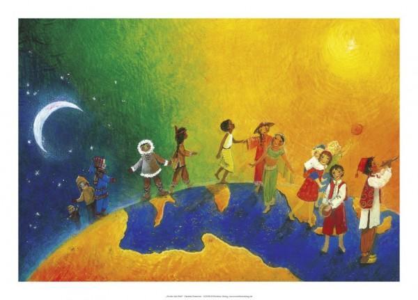 Kunstdruck Kinder der Welt